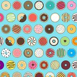 Doughnutpatroon stock foto's