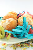 doughnuts καρναβαλιού πιάτο στοκ φωτογραφίες