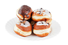 Doughnuts. Sweet Doughnuts on white backgrund Royalty Free Stock Photography