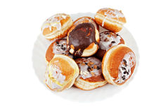 Doughnuts. Sweet Doughnuts on white backgrund Stock Images