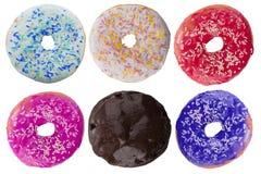 Ζωηρόχρωμα φρέσκα doughnuts Στοκ φωτογραφία με δικαίωμα ελεύθερης χρήσης
