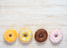 Doughnuts on Copy Space Area Stock Image