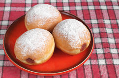 Doughnuts filled with jam Stock Image