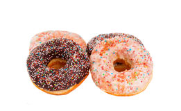 Doughnuts isolated Stock Photography