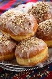 Doughnuts met het berijpen Stock Foto