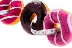 Doughnuts and meter Stock Images
