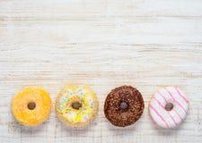 Doughnuts op Exemplaar Ruimtegebied Stock Afbeelding