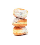 Doughnuts op Wit Royalty-vrije Stock Afbeeldingen