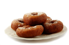 Doughnuts on plate Royalty Free Stock Images