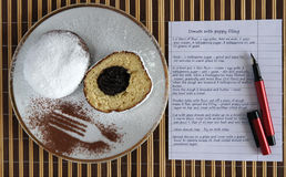 Doughnuts with recipe Royalty Free Stock Images