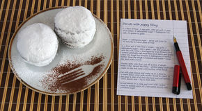 Doughnuts with recipe Stock Images