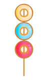 Doughnuts skewer Stock Photography