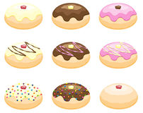 Doughnuts. Some doughnuts for Hanukkah and more Royalty Free Stock Photography