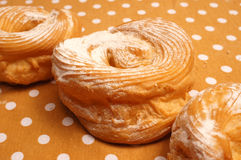 Doughnuts with sugar Stock Photography