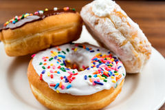 Doughnuts on table with shallow depth of field Stock Photography