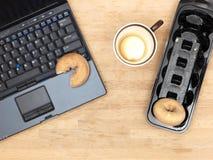 Doughnuts At Work Stock Photos