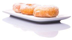 Doughtnuts casalingo con zucchero II Fotografia Stock