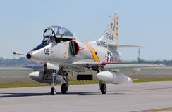 Douglas A-4 Skyhawk navy jetfighter royalty free stock images