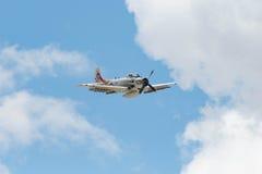 Douglas AD-4NA Skyraider en la exhibición Imagen de archivo libre de regalías