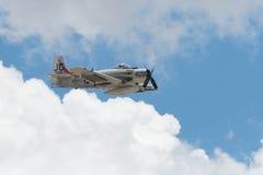 Douglas AD-4NA Skyraider på skärm Arkivbild