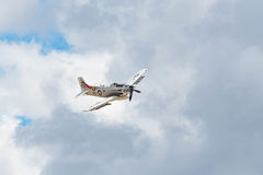 Douglas AD-4NA Skyraider på skärm Royaltyfria Foton