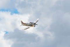 Douglas AD-4NA Skyraider su esposizione Fotografie Stock Libere da Diritti