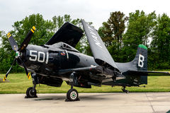 DOUGLAS AD-4 SKYRAIDER Royalty Free Stock Photo