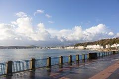 Douglas Bay en Promenade het Eiland Man Stock Foto