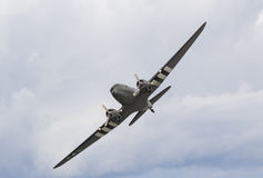Douglas C-47 Dakota with D-Day markings Stock Photography