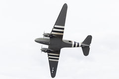 Douglas C-47 Dakota with D-Day markings Royalty Free Stock Image