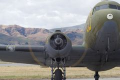 Douglas C-47 Skytrain Fotografering för Bildbyråer