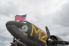 Douglas C-53 Skytrooper dag Ddocka på skärm Arkivfoton
