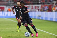 Douglas Costa (R) and Arturo Vidal (L) during the UEFA Champions Royalty Free Stock Images