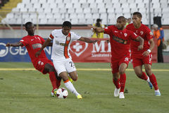 Douglas Costa of Shakhtar Donetsk. Douglas Costa de Souza (white kit), player of Shakhtar Donetsk, pictured in action during the friendly game between Dinamo Stock Images