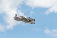Douglas A-1D - Skyraider på skärm Royaltyfri Foto