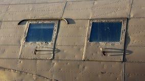 Douglas Dakota DC-3 C-47 WWII plane side windows Royalty Free Stock Image