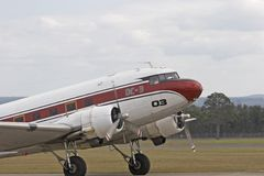 Douglas DC-3. On the runway Stock Image