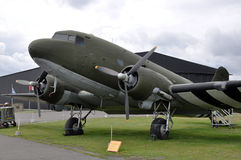 Douglas DC-3 Aircraft. World War II Douglas DC-3 'Dakota' cargo aircraft stock photo