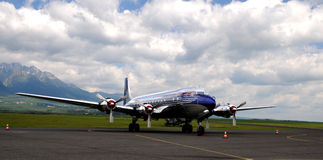 Douglas DC-6 Red Bull Royalty Free Stock Images