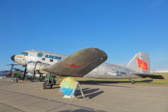 Douglas DC-3/flygplan för C-47A Skytrain Arkivbilder