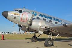 Douglas DC-3/flygplan för C-47A Skytrain Arkivbild