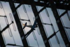 Douglas DC-3 hiding behind the antenna Stock Photos