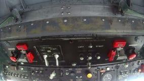 Douglas DC3 Inside Cockpit 4 stock video footage