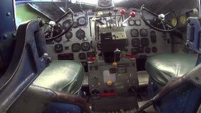Douglas DC3 Inside Cockpit 1 stock video footage
