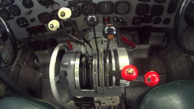 Douglas DC3 Inside Cockpit 2 stock video footage