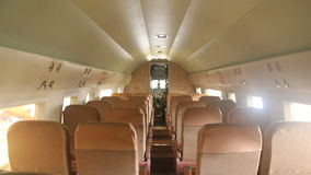 Douglas DC3 Interior 3 stock footage
