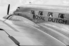Old propeller aircraft Douglas DC-2 Uiver Stock Photos