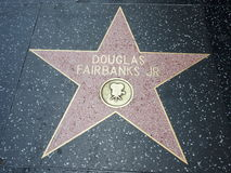 Douglas Fairbanks Jr-Stern in Hollywood lizenzfreies stockfoto