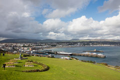 Douglas Isle of Man. Ferry Terminal and town of Douglas Isle of Man royalty free stock photography