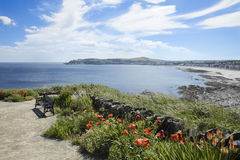 Douglas Isle of Man. Overlooking Douglas Isle of Man from the area of Onchan British Isles stock photo